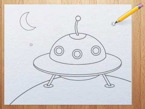 480x360 How To Draw A Ufo For Kids