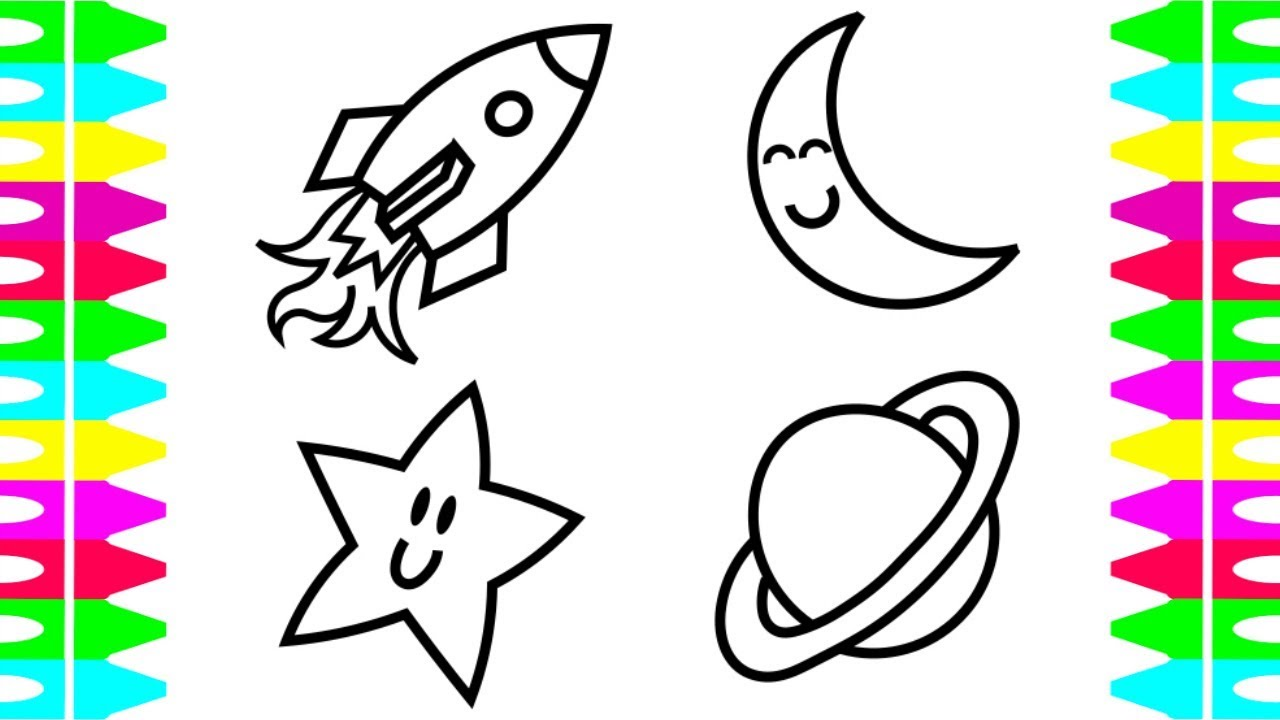 1280x720 Kids Coloring Pages Learn Drawing Coloringspaceship Solar System