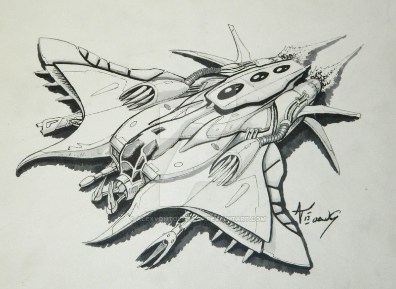 800x584 Space Ship Drawings Group