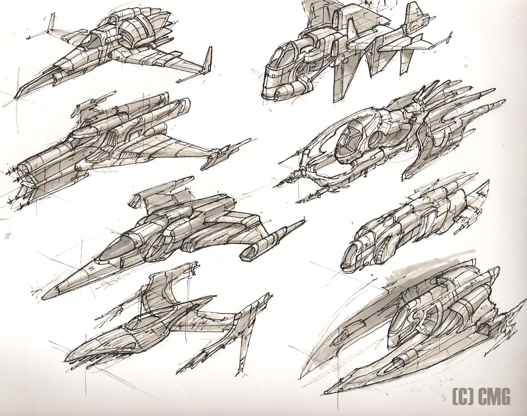 1065x841 Space Ships 7 By On @