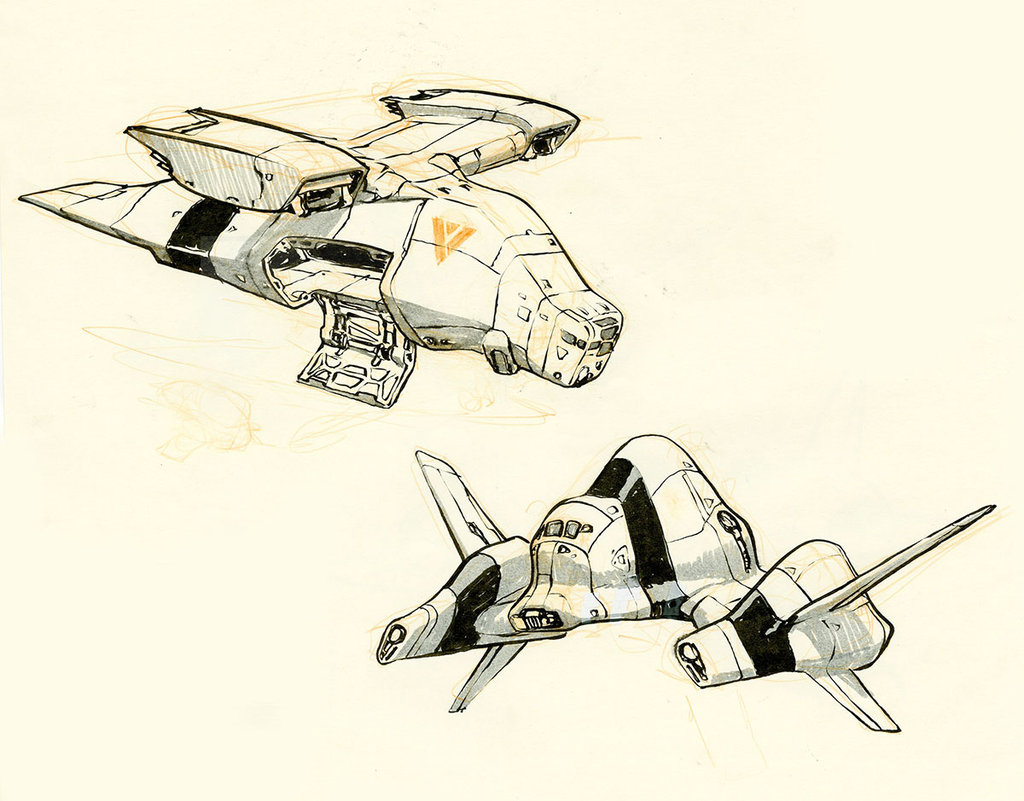 1024x801 Spaceships By On @ Sifi