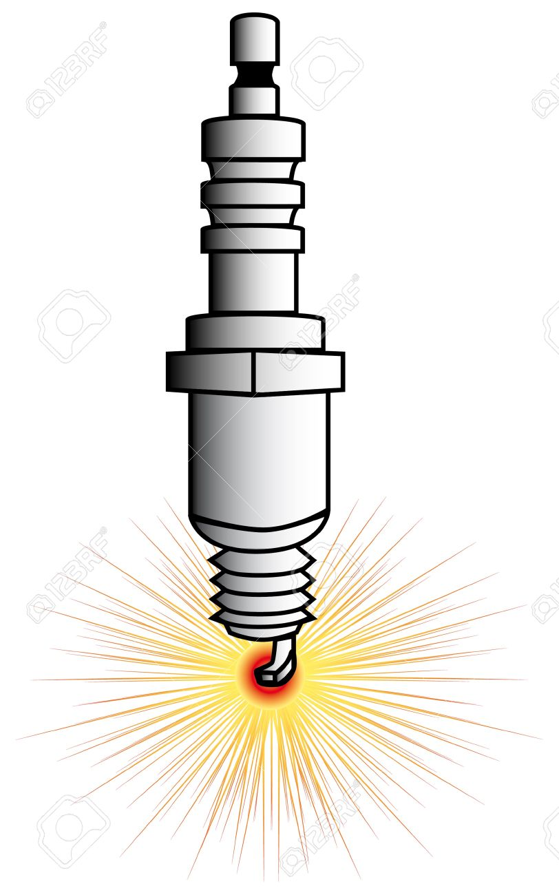 812x1300 Drawing Of A Driving Spark Plug Stock Photo, Picture And Royalty