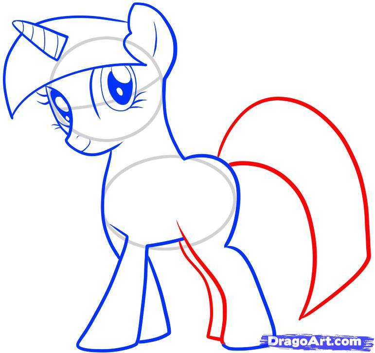 771x726 How To Draw Twilight Sparkle, My Little Pony, Twilight Sparkle