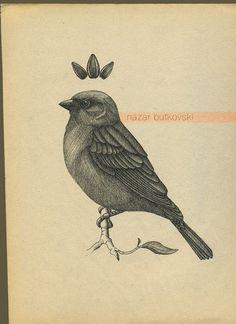 236x324 Antique Biology Illustration Bird House Sparrow