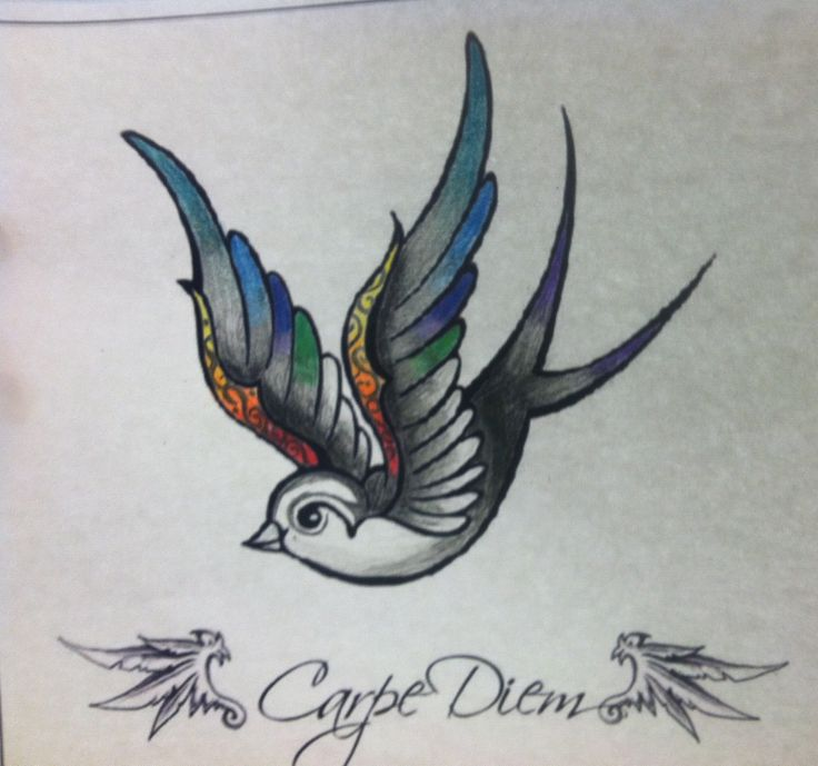 736x689 Latest Sparrow Tattoo Designs