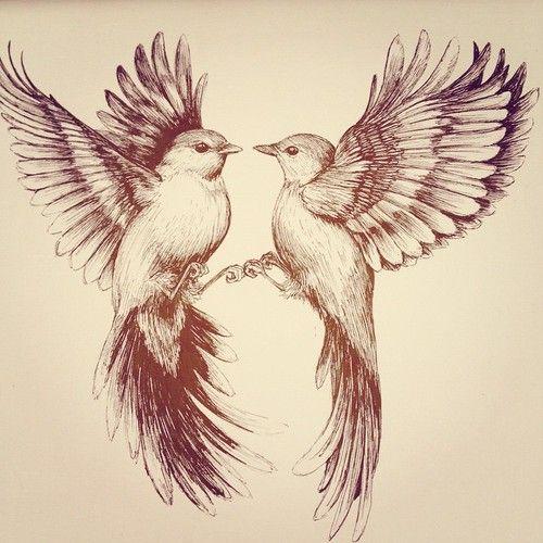 500x500 Flying Bird Drawing By Linn Warme Tattoo Inspiration