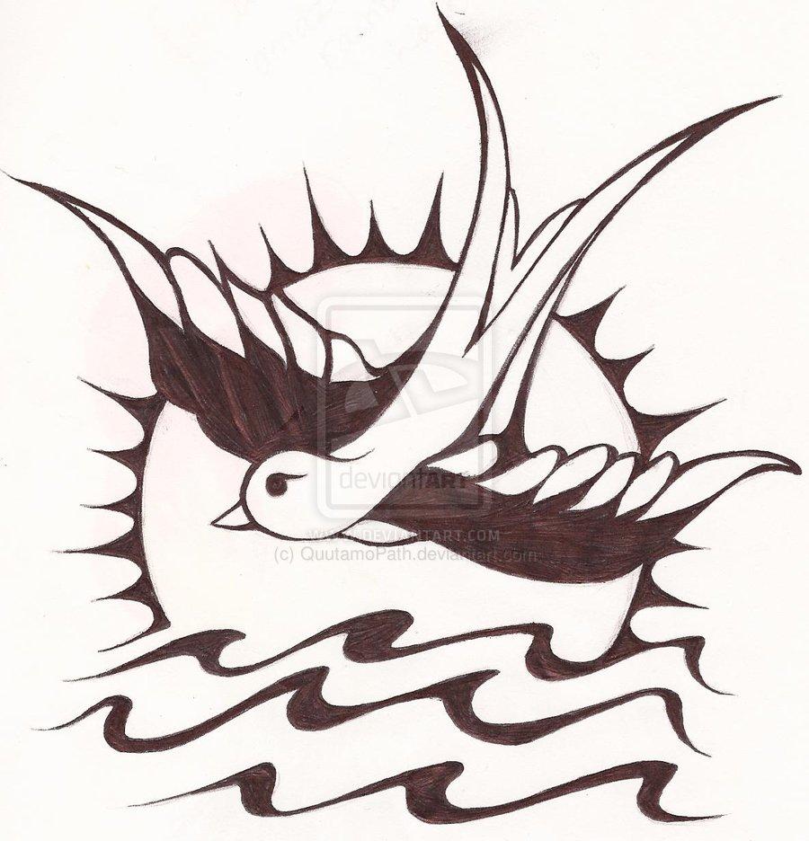 900x936 Pirates Of Life Sparrow Tattoo Design