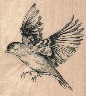 284x319 Large Bird Flying Left 3 X 3 14