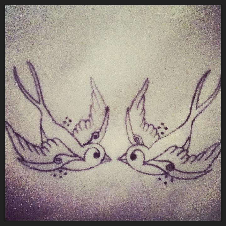 720x720 Two Sparrows Tattoo Design. Tattoos Sparrow Tattoo