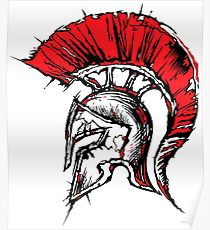 210x230 Spartan Drawing Posters Redbubble