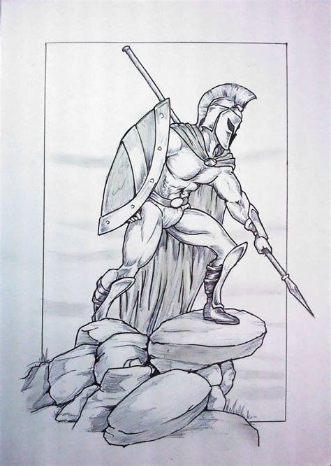 474x666 Image Result For Spartan Warrior Drawings Art Of Star