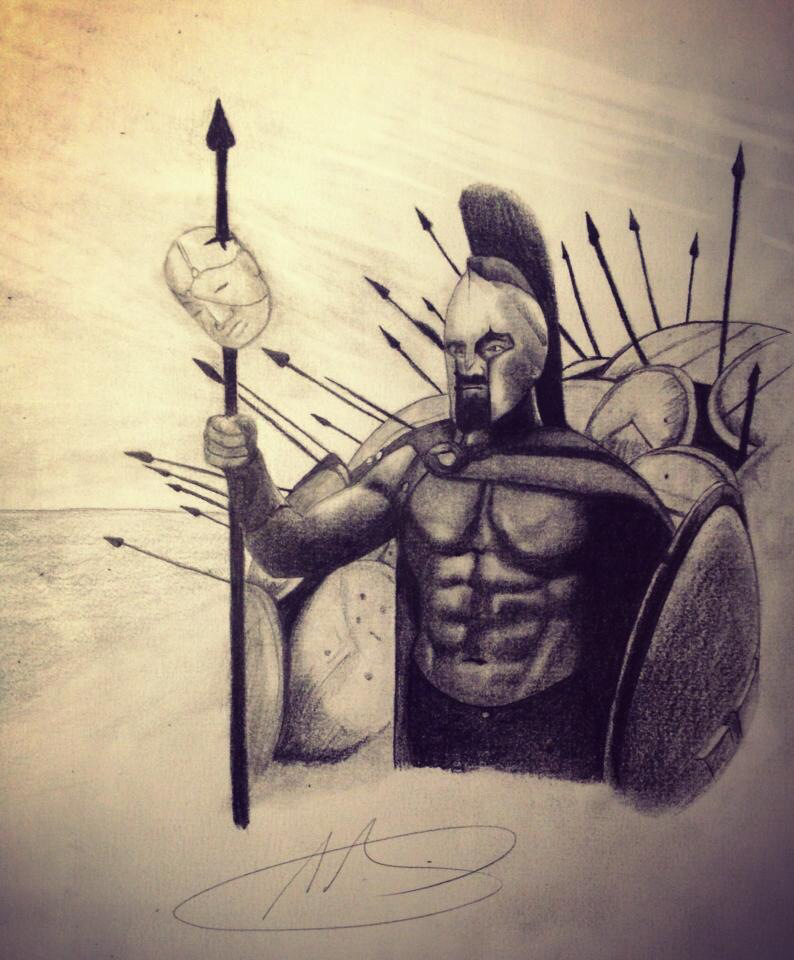 794x960 Spartan drawing Pencil Drawings Drawings
