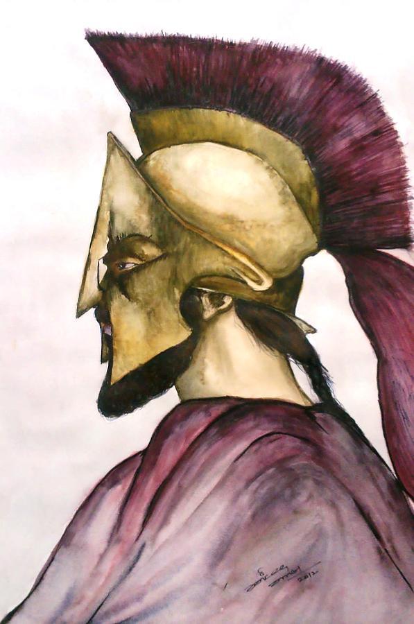 597x900 Spartan Drawing By Jaiteg Singh