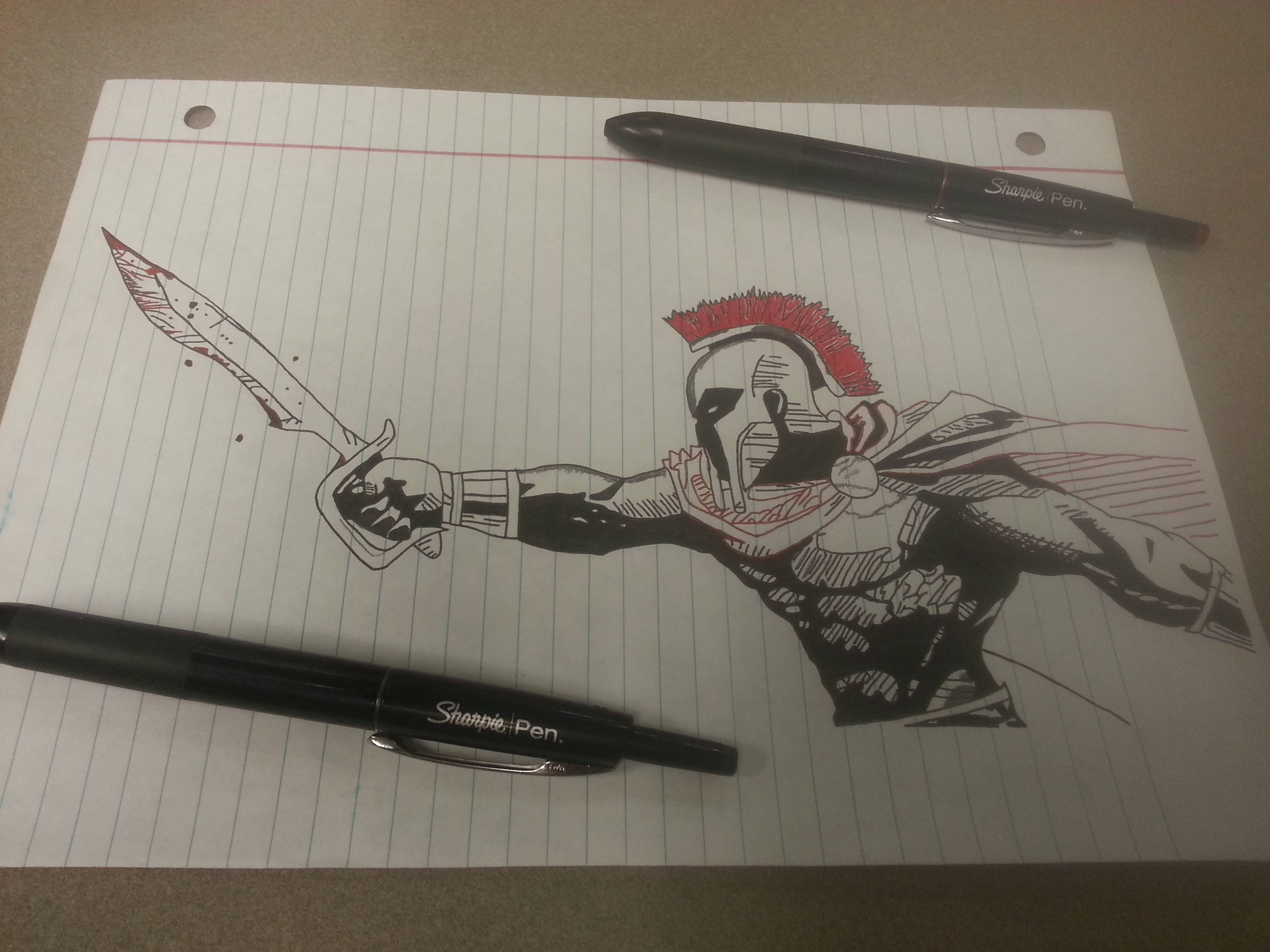 3264x2448 Watched The Movie 300 Again And Wanted To Draw A Spartan. Sorry If