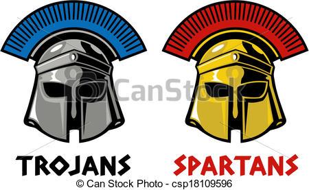 450x277 Trojan And Spartan Helmet Eps Vectors