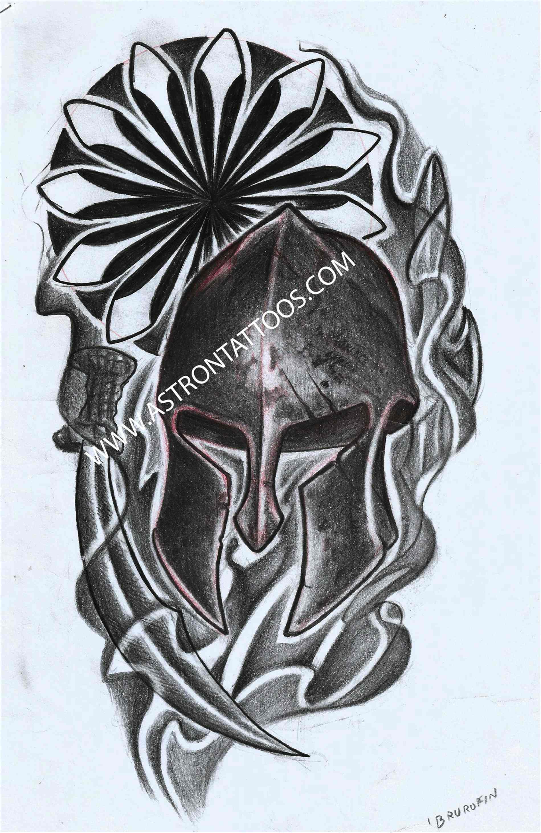 1899x2922 Amazing Celtic Half Sleeve Tattoo Designs Drawings Spartan Helmet