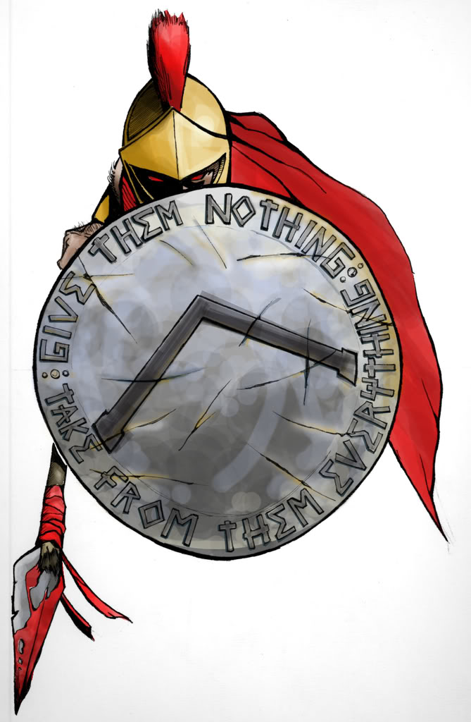 669x1024 Spartan Shield Drawing