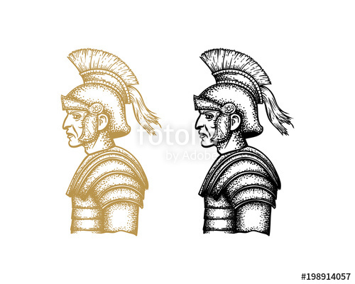 500x400 Spartan Warrior Hand Drawing Vector Stock Image And Royalty Free