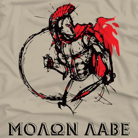 480x480 Spartan Warrior Molon Labe Shirt