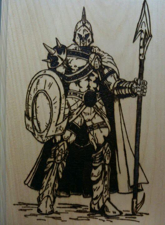 528x720 Spartan Warrior My Woodburnings Spartan Warrior