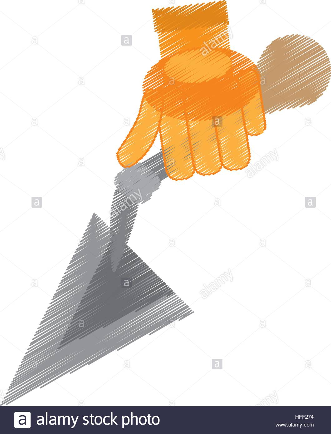 1061x1390 Drawing Spatula Tool Construction Glove Handle Stock Vector Art