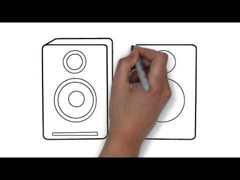 480x360 How To Draw Speakers (Pair)