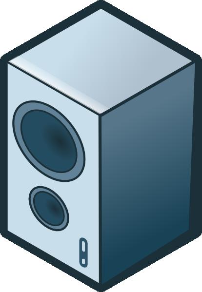 414x599 Rg Isometric Loudspeaker Clip Art