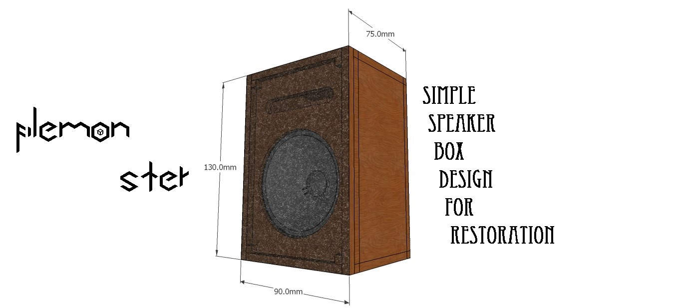 1362x617 Sketchup Simple Wood Speaker Box (Speed Drawing) Pt. 1
