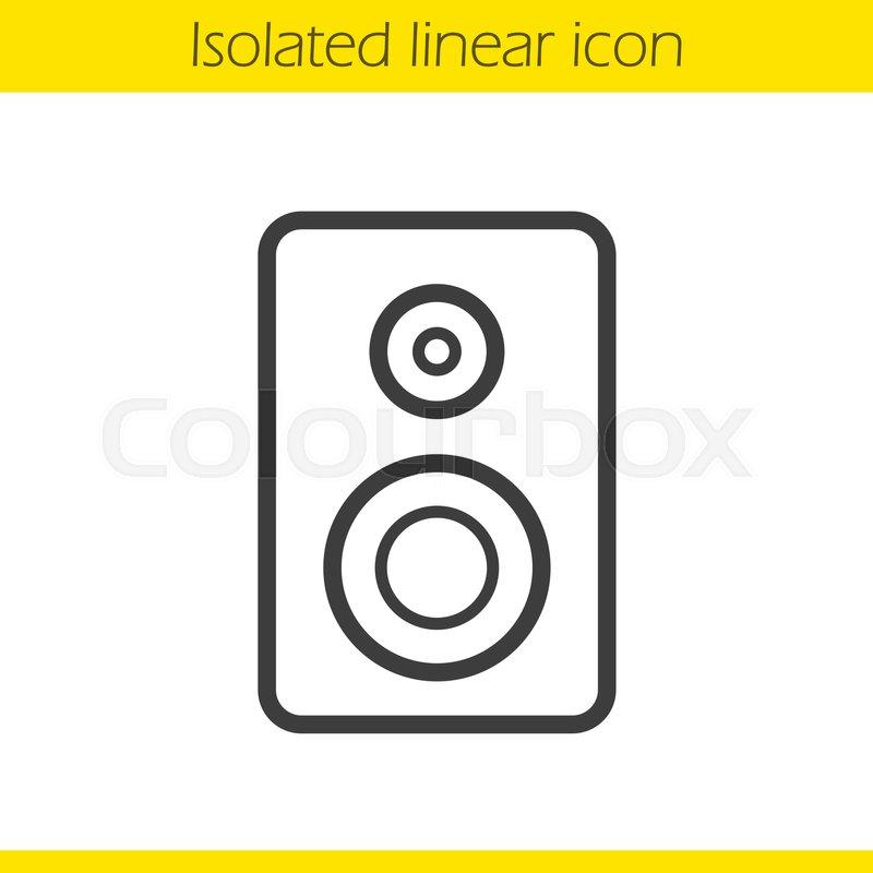 800x800 Speaker Linear Icon. Electronic Studio Equipment Thin Line