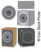 142x179 Speakers Isolated On White Drawing