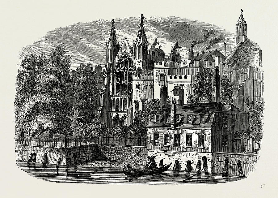 900x640 The Speakers House From The River, In 1830 Drawing By Litz Collection