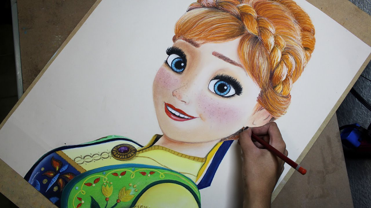 1280x720 Speed Drawing Anna (Frozen Fever) Diana