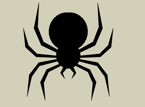 500x368 Halloween Cheap And Easy Dropping Spider Silhouette Spider