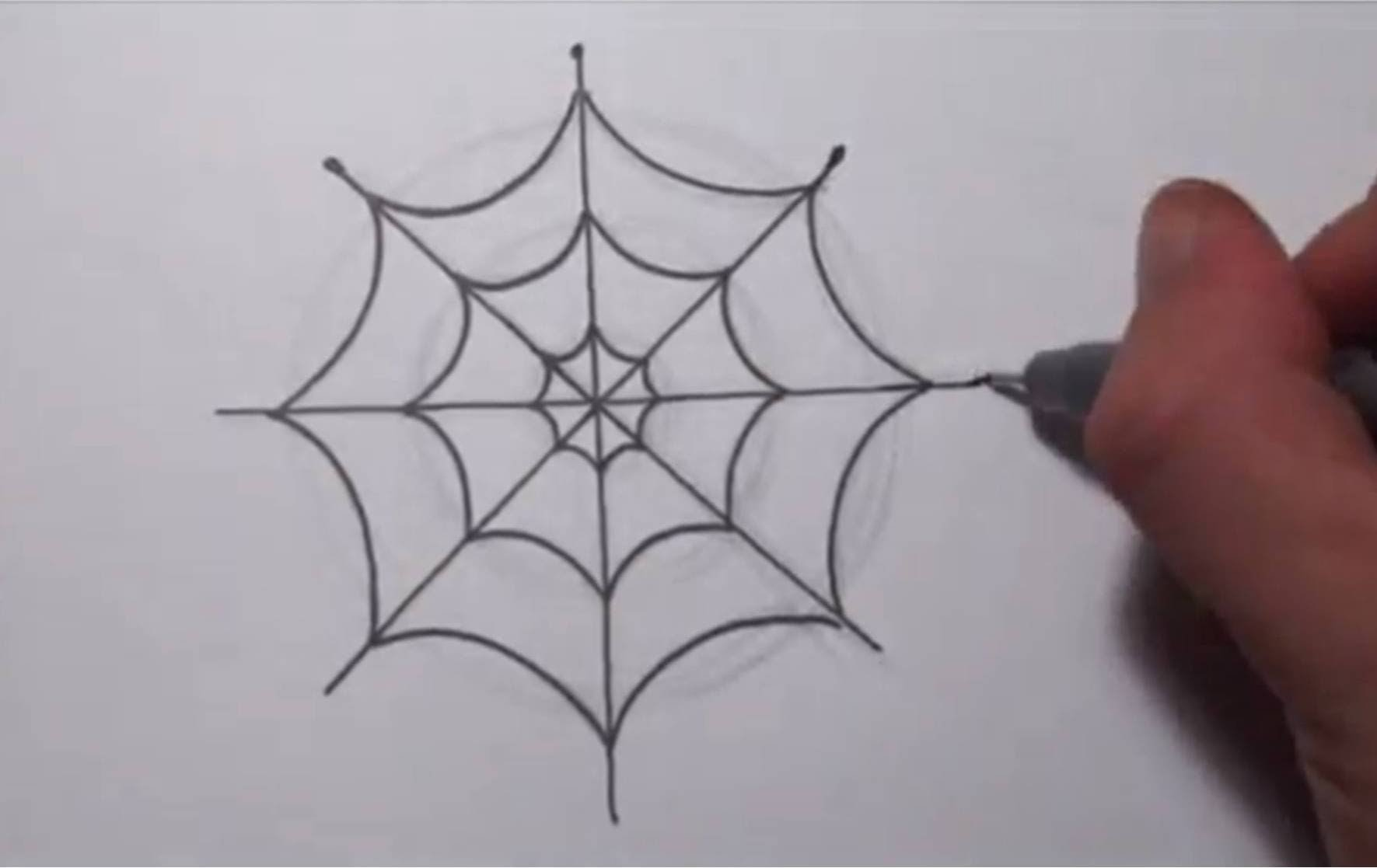 1771x1117 How To Draw A Simple Spider Web