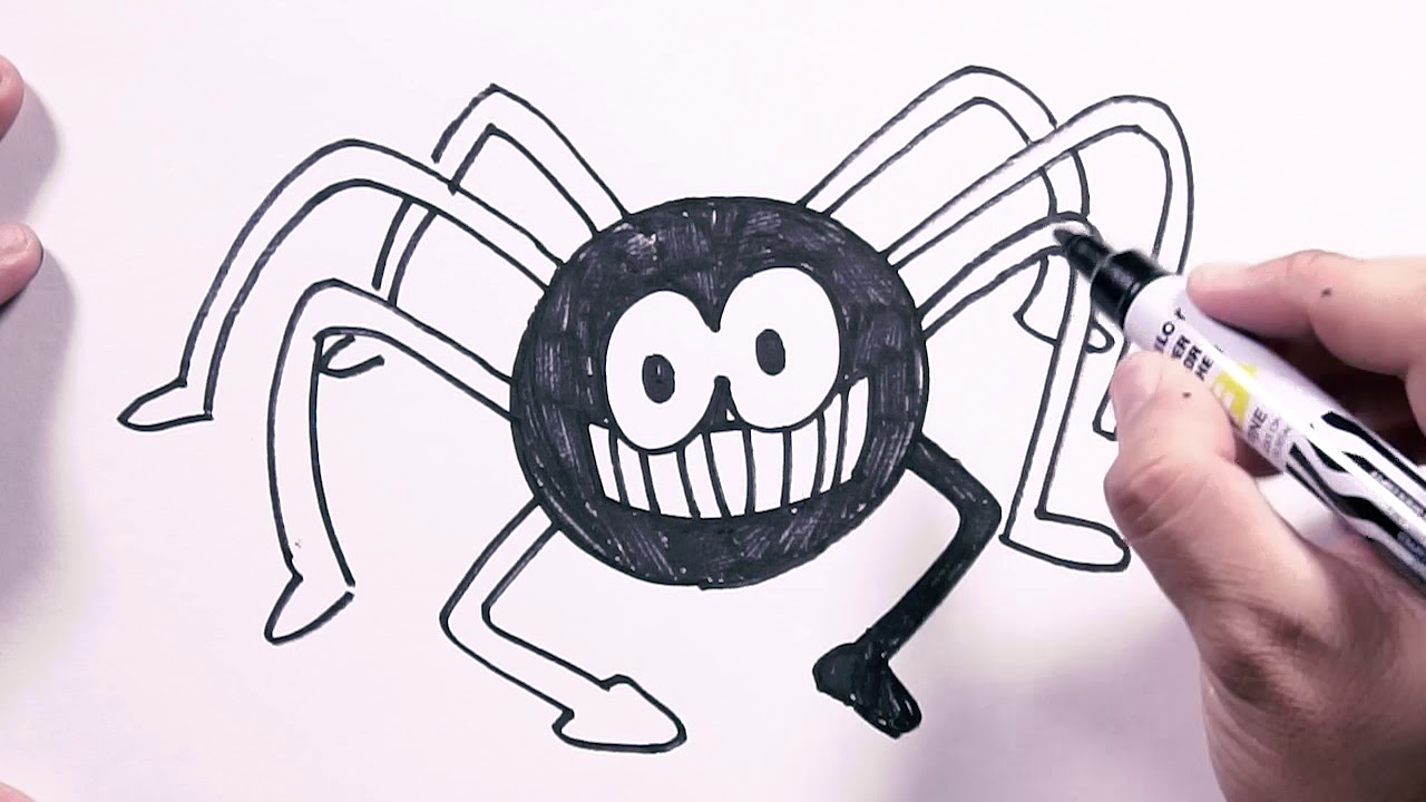 1280x720 How To Draw Halloween Spider