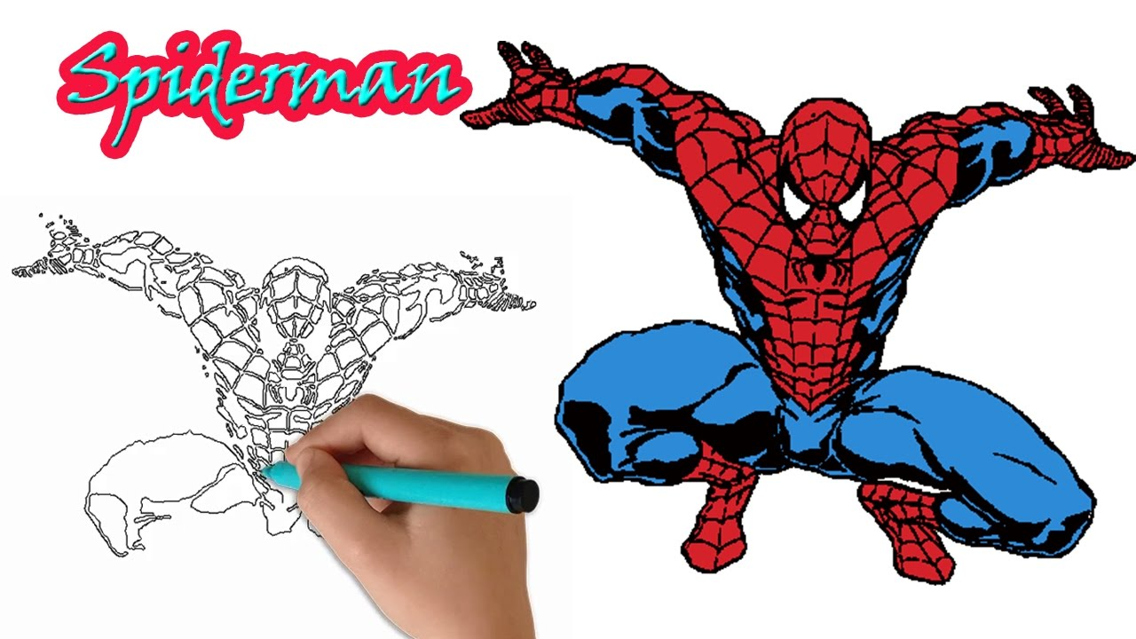 1280x720 Amazing Spiderman Drawing For Kids How To Drawing Spiderman