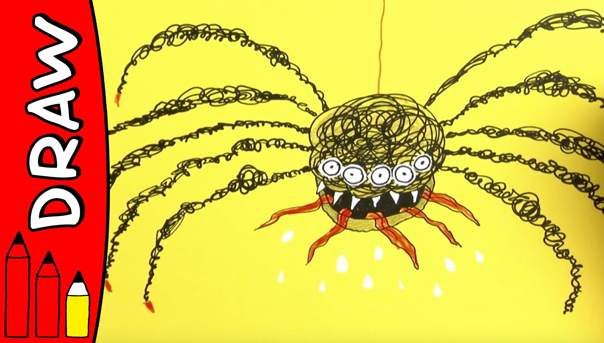 2000x1135 How To Draw A Spider Halloween Ideas For Kids