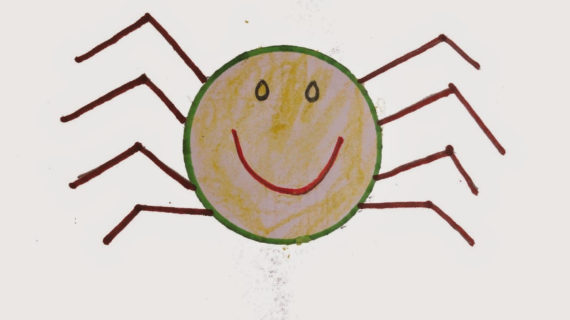 570x320 Spider Drawing For Kids How To Draw Spider For Kids Step By Step