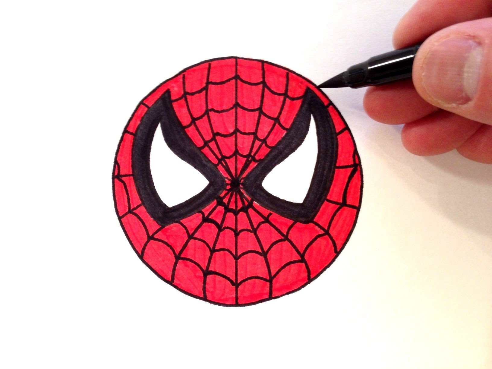 1632x1224 How To Draw A Spider Man Smiley Face
