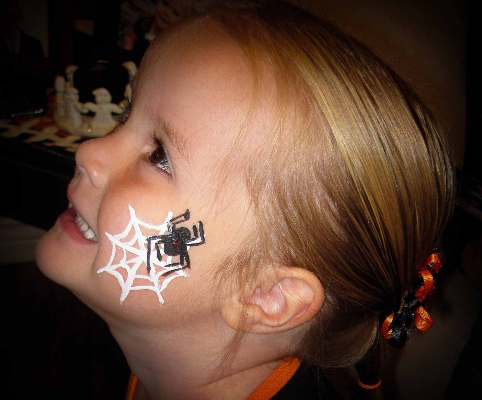1600x1329 Face Painting Images Here We Have A Spider Web. You Have A White