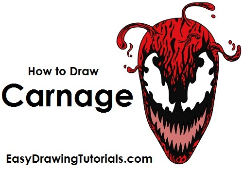 500x350 To Draw Carnage (Spider Man)