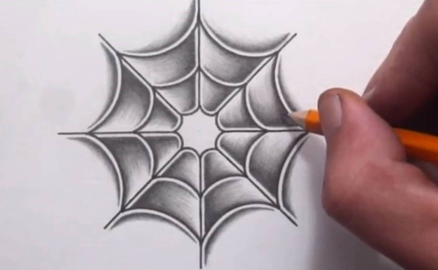 1743x1073 How To Shade In A Spider Web