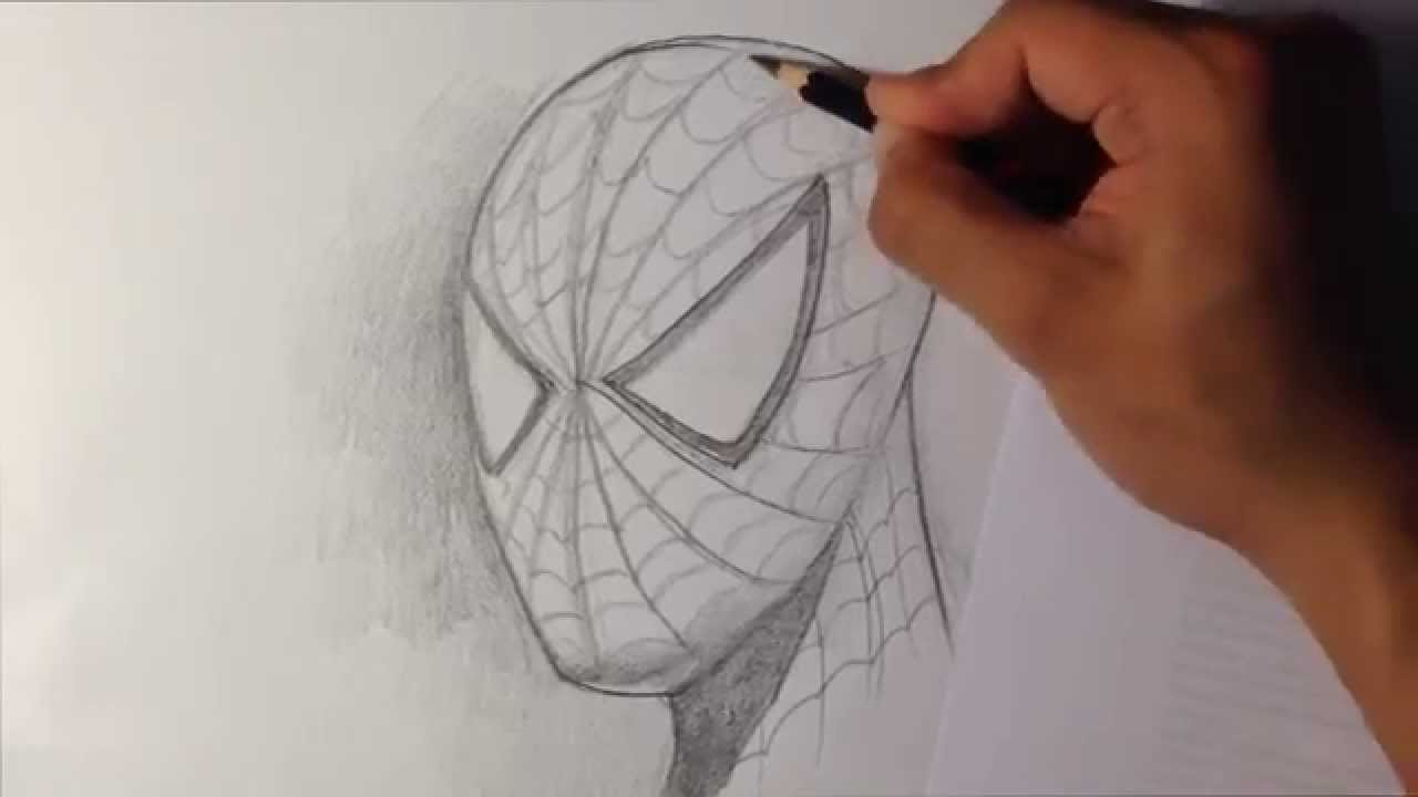 1280x720 A Drawing Of Spiderman How To Draw Spider Man In Fine Art Style