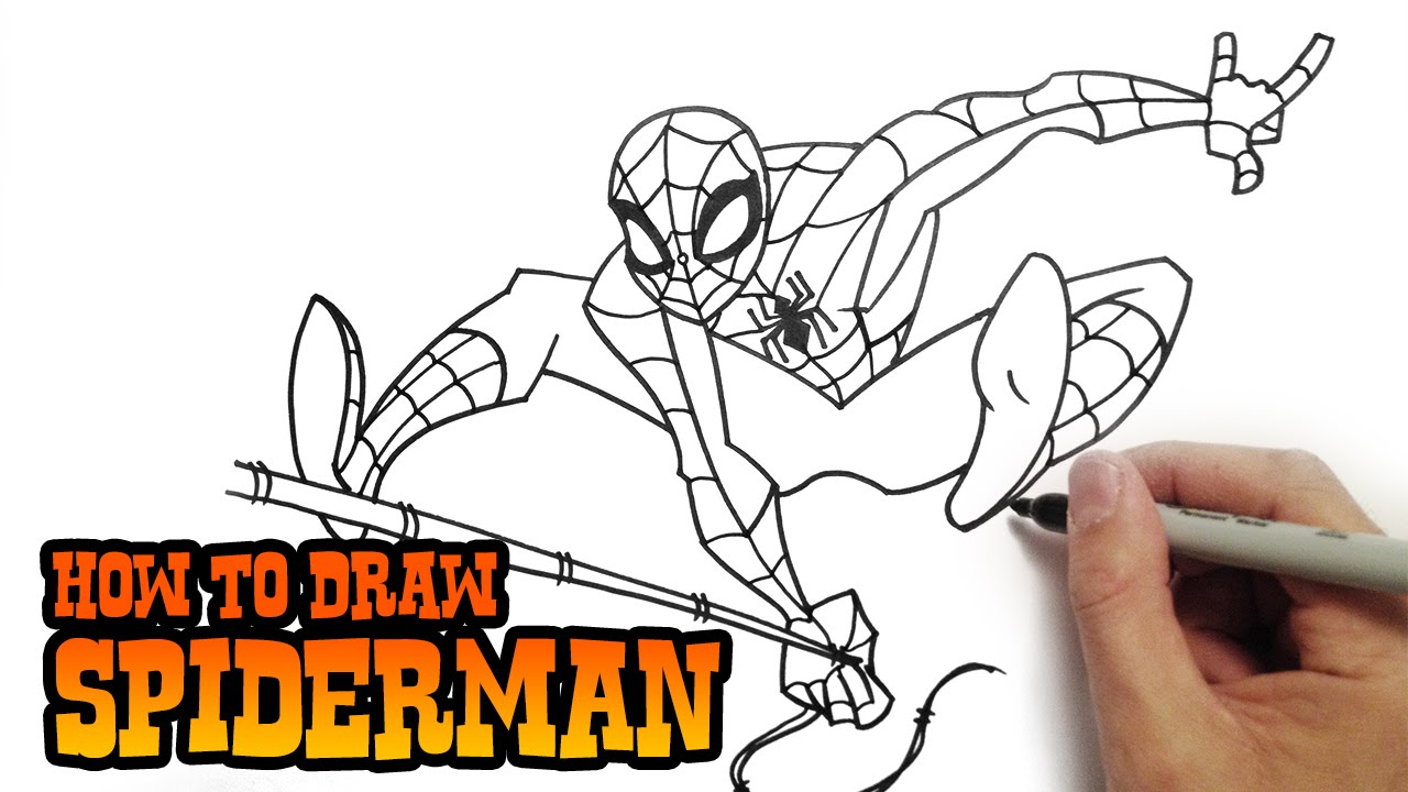 1280x720 Easy Drawings Of Spiderman