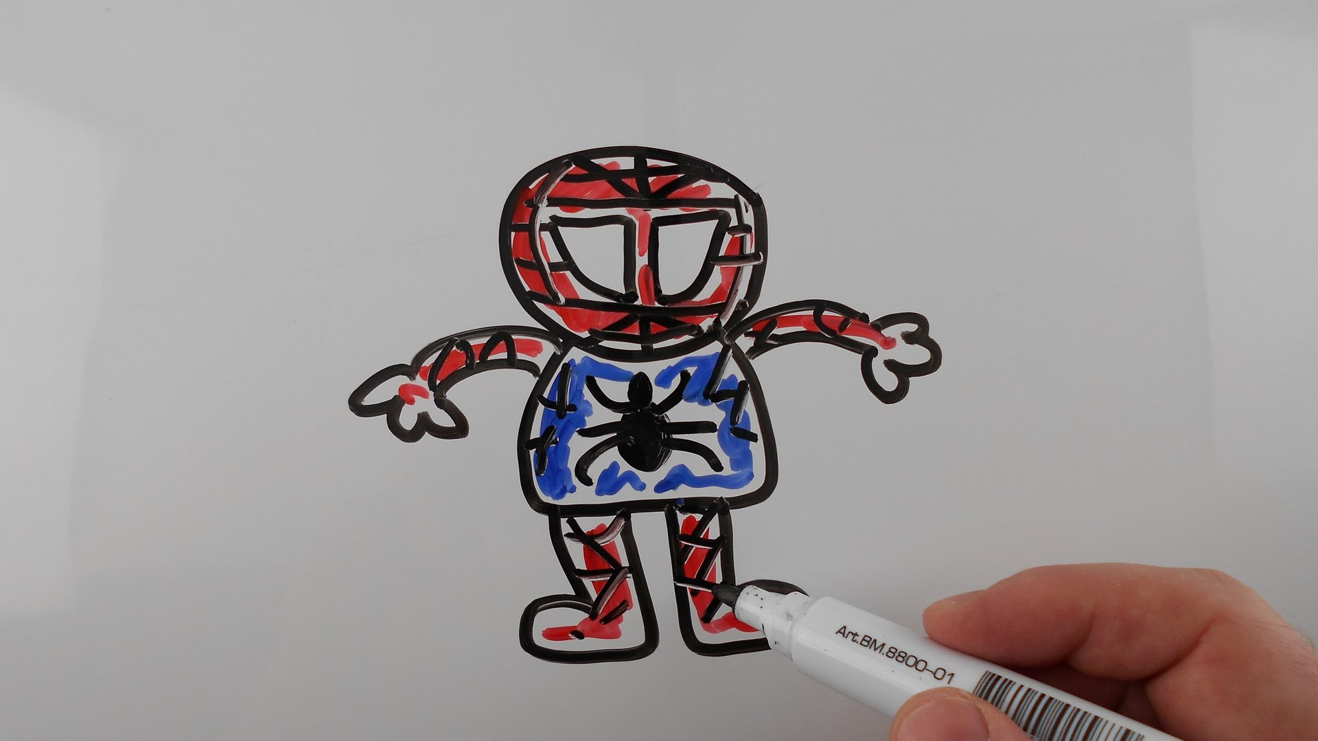 1920x1080 How To Draw Spiderman Step By Step Very Easy For Kids. Drawing