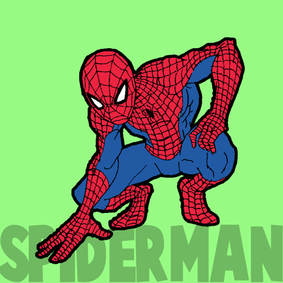 400x400 How To Draw Spiderman With Simple Steps Drawing Tutorial