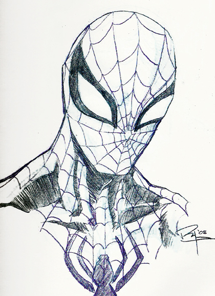 420x576 8 How Draw Spiderman In Pencil, How Pencil Spiderman In Draw