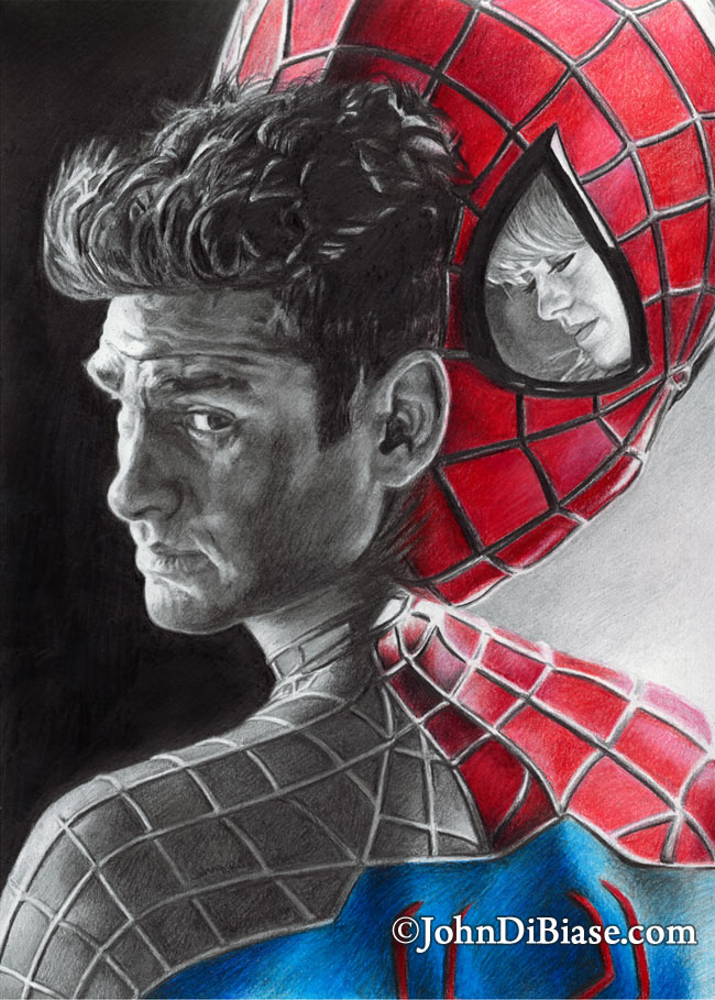 650x909 Colored Pencil Graphite Hybrid Of Peter Parker (Andrew Garfield