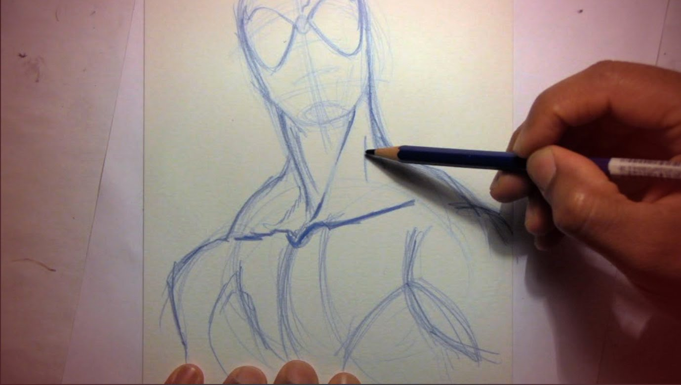 1379x780 How To Draw Spider Man (Starting With Pencils)