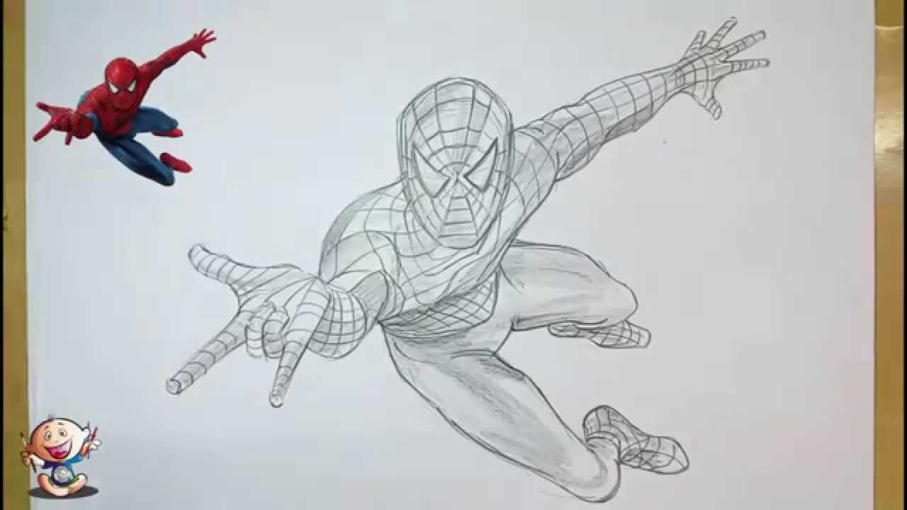 1280x720 How To Draw Spider Man With Pencil